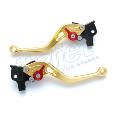 Brake Lever Pair Billet Gold