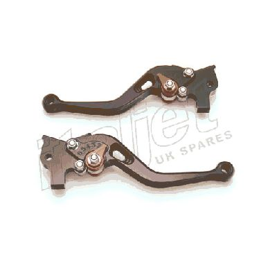 Brake Lever Pair Billet Black